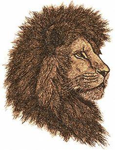 Lion photo stitch free embroidery design - Photo stitch embroidery - Machine embroidery forum