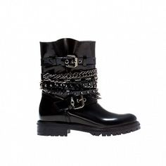 Zara Chains and Straps Ankle Boots
