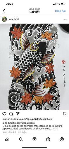 Carp Tattoo, Back Pieces, Street Fighter, Lunges, Tattos, Tribal Tattoos, Samurai, Oriental, Fish