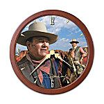 John Wayne Transitioning Stained-Glass Clock