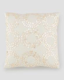 """Sequin Circle Decorative Pillow 12"""", Main View"""