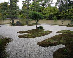 modern sand garden design