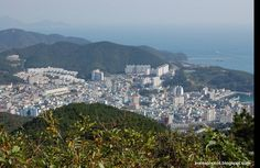 Here's a photo of Okpo, Geoje taken from Mt. Guksabong.