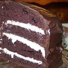 """Giant Ding Dong Cake I """"Holy Moly is this good! I made this 3 times in 10 days as everyone loved it!!! It's definitely the new favorite in our home."""""""