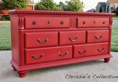 21 red painted dressers to inspire! The North End Loft: Friday Finds