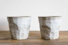Faceted Ceramic Cup