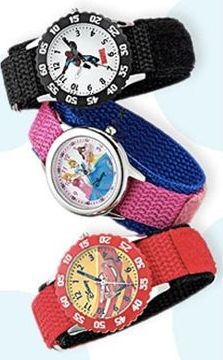 Once upon a time: They'll love learning to tell time with a fun character watch!