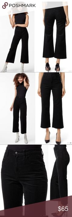 NEW Zara Woman Black 70/'s Tribute Slim Flare Ankle Length Pants Size 2 NWT A34