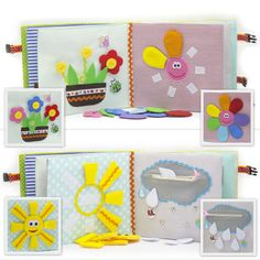 Quiet active book made of cloth is recommended for children from 1 year old. It consists of 7 sheets. On every of 12 pages there are different kinds of clasps: -Velcro -Buttons -Knobs -Shoelaces -Zipper -Pins -Yarn The hardcover of the quiet active book also contains developing elements on Velcro, mini maze with numbers, buttons and ribbons. The book is fastened on the buckle carabiner. Textile developing book is fastened by plenty of stitches inside. After production all details and the…
