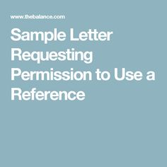 Permission giving letter sample permission letters pinterest sample letter requesting permission to use someone as a reference spiritdancerdesigns Choice Image