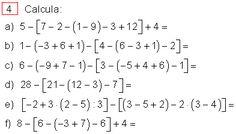 17 Ideas De Ejercicios Matematica Ejercicios Secundaria Matematicas Jerarquia De Operaciones