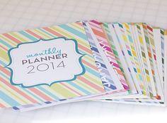 Jenna Sue: My free 2014 Monthly Planner is back! Agenda Planner, Erin Condren Life Planner, Blog Planner, Monthly Planner, Printable Planner, Planner Ideas, Free Printables, Calendar Organization, Organizing