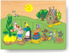 Dřevěné vkládací puzzle - Pohádka o veliké řepě Maternelle Grande Section, Family Theme, First Fathers Day Gifts, School Themes, Garden Theme, Website Design Inspiration, Easy Crafts For Kids, Lilo And Stitch, Cartoon Kids