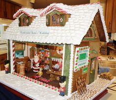 Santa's Workshop by Shirley Trask, is awarded People's Choice Award at Gingerbread Magic 2011 in Daytona, Florida.