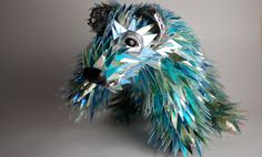 Broken CDs Transformed Into Iridescent Animal Sculptures | The Creators Project