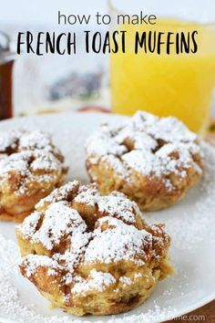 Do you love baked french toast? You are going to love easy french toast muffins … Do you love baked french toast? You are going to love easy french toast muffins recipe. Get all the flavors of french toast with easy french toast muffins. Breakfast Appetizers, Breakfast Dessert, Breakfast Dishes, Perfect Breakfast, Easy Breakfast Muffins, Baked Breakfast Recipes, Breakfast Pancakes, Recipes Using Breakfast Cereal, Fun Easy Breakfast Ideas