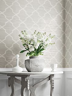 Thibaut Wallpaper Carolyn Trellis | TM Interiors Limited