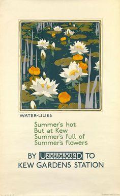 Image result for vintage kew garden rail travel poster