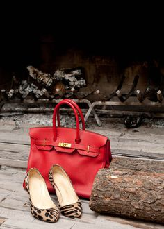 Hermes bag!  Not to close to the fire!