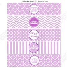 Free Mint Green Chevron Water Bottle Labels Patterned Party - Birthday water bottle labels template free
