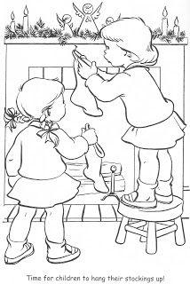 Hanging Christmas Stockings printable coloring pages Christmas Tree Lots, Christmas Colors, Kids Christmas, Christmas Morning, Vintage Christmas, Christmas Stockings, Coloring Book Pages, Printable Coloring Pages, Diy Xmas