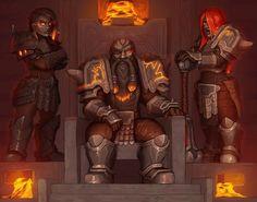 The Runefist Family by SurrealKatie on DeviantArt Dark Fantasy, Fantasy Dwarf, Fantasy Rpg, Medieval Fantasy, Fantasy World, Fantasy Character Design, Character Concept, Character Art, Concept Art