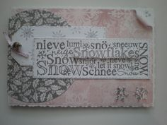 Stampendous Snow stamp and Christmas Promise papers.(Craftyhearts)