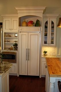 A built-in refrigerator with cabinetry panels is functional and beautiful.
