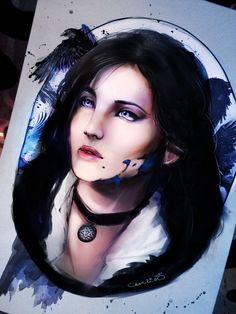 yennefer drawing by charlien by CharlienChan