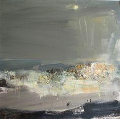 Joan Eardley ( 1921 - Summer Grasses and Barley on the Clifftop The Wave Seascape . Contemporary Landscape, Abstract Landscape, Abstract Art, Seascape Paintings, Landscape Paintings, Art Moderne, Claude Monet, Vincent Van Gogh, Gouache