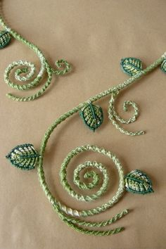 Secret Garden - Leaves Collier (Detail) by nimuae.deviantart.com on @deviantART