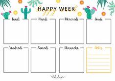 Blog Planner Printable, To Do Lists Printable, Planner Template, Printable Stickers, Homework Planner, Weekly Planner, Bullet Journal Week, Back To School List, Journal Organization