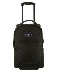 Jansport Wheeled Superbreak Unisex Backpack THE9-008 Black Padded Handle Bag