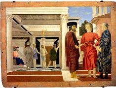 Piero della Francesca, Galleria Nazionale delle Marche, Urbino. c.1455–1460, oil and tempera on panel, 23.0 in × 32.1 in