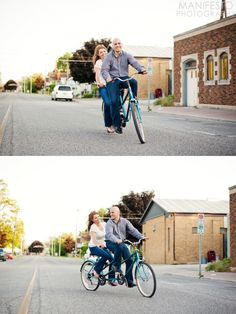 Ryan & Rebecca #engagement #vintage #love #tandem #bicycle