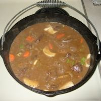 Beef Stew Made In A Cast Iron Dutch Oven Recipe