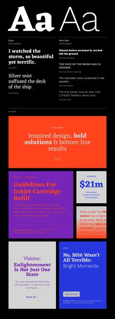 2017 Trendy Google Fonts Combinations on Behance