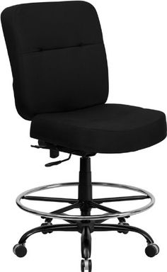 Pin it :-) Follow us :-)) AzOfficechairs.com is your Officechair Gallery ;) CLICK IMAGE TWICE for Pricing and Info :) SEE A LARGER SELECTION of  heavy duty  office chair at http://azofficechairs.com/?s=heavy+duty+office+chair -  office, office chair, home office chair - HERCULES Series 400 lb. Capacity Big & Tall Black Fabric Office Chair with Extra WIDE Seat No Arms « AZofficechairs.com