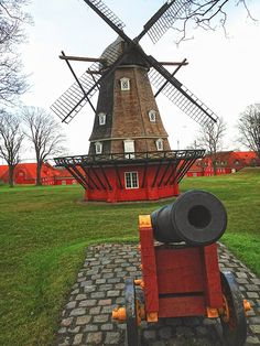 A run through Copenhagen's old town takes you through the citadel with its cannon and windmill