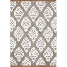 Add a pop of pattern to your living room or den with this stylish rug, showcasing a damask motif eye-catching appeal.  Product: ...