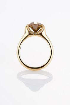 Brown diamond by Gal Padani.  http://galpadani.com/    http://www.facebook.com/Gal.Padani.Jewelry    http://www.etsy.com/people/galpadani