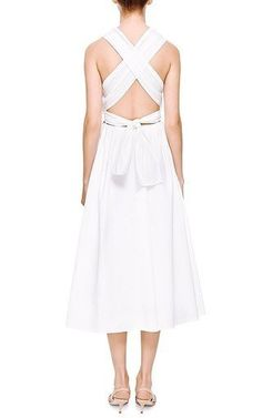 Sailor White Cotton Midi Dress by Rosie Assoulin Now Available on Moda Operandi