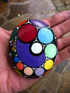 Hand painted stone.