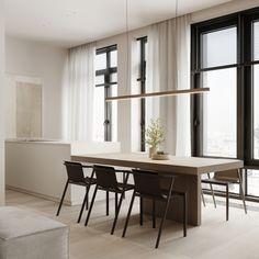 Kitchen Study Interior Design, Family Apartment, Modern Minimalist, Design Projects, Modern Design, Sweet Home, Villa, House Design, Indoor