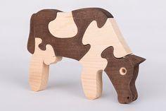 Cow puzzle por thewoodenhorse en Etsy, $9.00