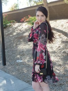 romantic floral dress for a valentine's date