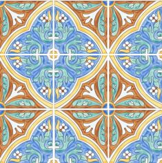 HP-501B - Mizner Tile Studio - Hand painted artisan tiles for the home. #tiles #handpainted #handcrafted