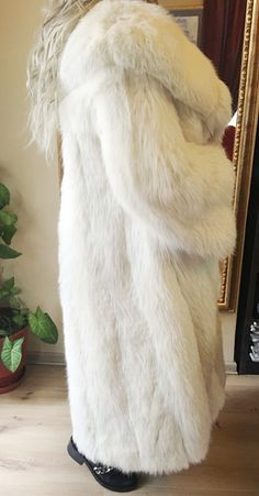 White Fox Fur Jacket/Coat   eBay