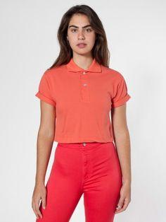 Crop Piqué Tennis Shirt