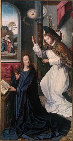 Anunciação | Museu de Évora | Círculo de Gerard David, 1495 d.C. - 1510 d.C.